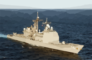 Uss San Jacinto Underway In The Mediterranean Sea. Clip Art
