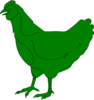 Green Chicken Clip Art