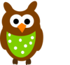 Brown Owl And Dots Clip Art