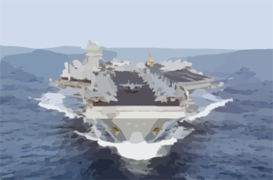 Uss Dwight D. Eisenhower (cvn 69) Underway. Clip Art