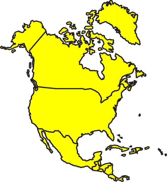 north america map clipart - Karlapa.ponderresearch.co