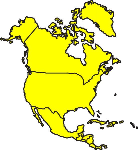 north america map clipart - Karlapa.ponderresearch.co
