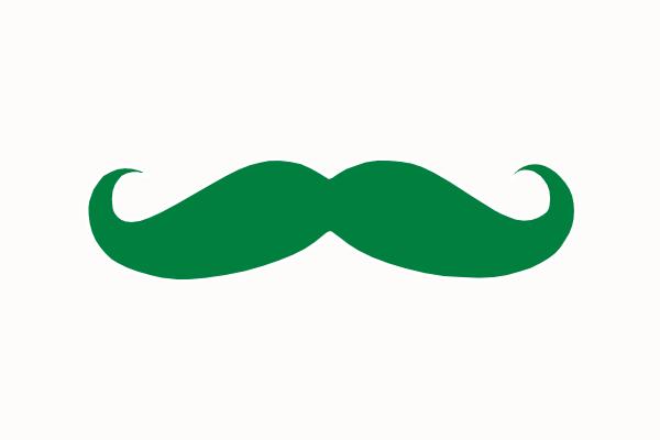 green mustache clip art at clker com vector clip art online rh clker com free moustache clipart free mustache clipart