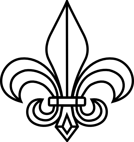 fleur de lis coloring pages - photo#17