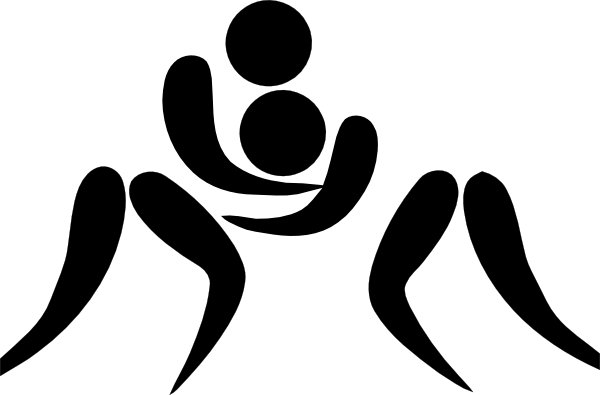 olympic wrestling logo clip art at clker com vector clip art rh clker com steer wrestling silhouette clip art wrestling clip art images