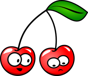 Cartoon Cherries Clip Art