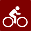 Hotel Icon Cycling Clip Art - Red/white Clip Art