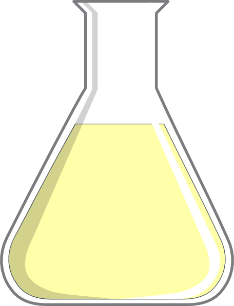Yellow Flask Clip Art at Clker.com - vector clip art ...