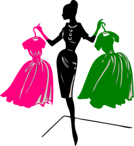 Pink And Green Silhouette Clip Art