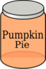 Pumpkin Pie Jar Clip Art