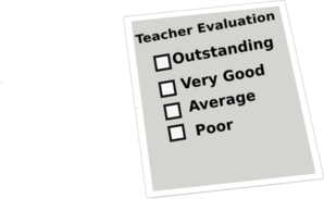 Teacher Evaluation Clip Art