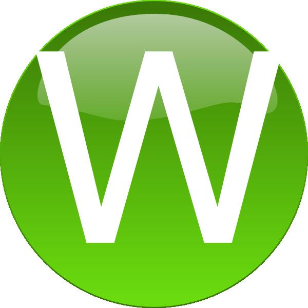 Green W Clip Art at Clker.com - vector clip art online ...