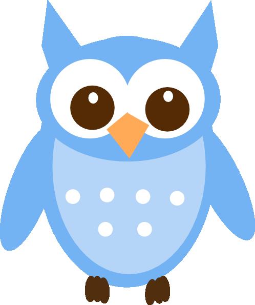 baby blue owl clip art at clker com vector clip art online rh clker com