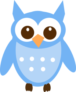 baby blue owl clip art at clker com vector clip art online rh clker com clipart of owls in a tree clipart pictures of owls