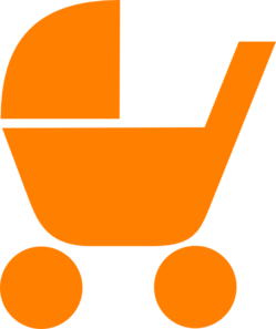 Orange Pram Clip Art