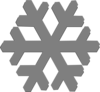 Grey Snow Flake Clip Art