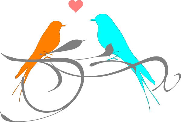 Love Birds Clip Art at Clker.com - vector clip art online, royalty ...