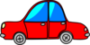 Car Red Cartoon Transport Clip Art