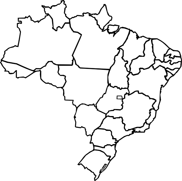 Map Of Brazil Clip Art At Clker Com