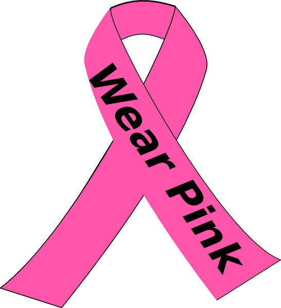 Free breast cancer pink ribbon clip art