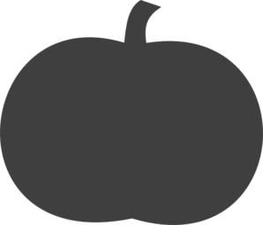 Gray Pumpkin Clip Art at Clker.com - vector clip art ...