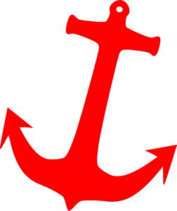Red Anchor Clip Art