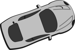 Gray Car - Top View - 20 Clip Art