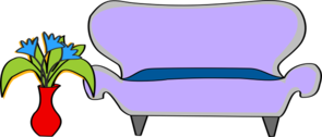 Sofa With Plant Clip Art