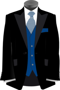 Blue And Black Suit Clip Art