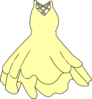Pale Yellow Dress Clip Art