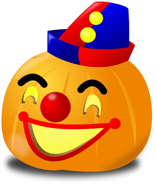 Clown pumpkin clip art at vector clip art for Clown pumpkin painting