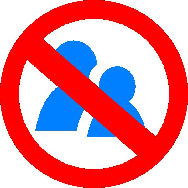 No Talking Symbol Clip Art at Clker.com - vector clip art online ...