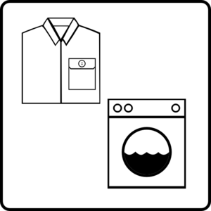 Hotel Icon Has Laundry Service Clip Art