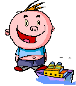 Kid With Boat Clip Art