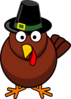 Turkey With Pilgrim Hat Clip Art