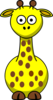 Yellow Giraffe With 17 Dots Clip Art