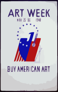 Art Week, Nov. 25 - Dec. 1, 1940 Buy American Art. Clip Art