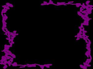 Purple Wedding Borders Clip Purple Top Border Clip Art