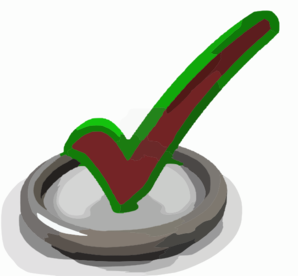 D Render Of Check Mark Symbol In Circle Clip Art