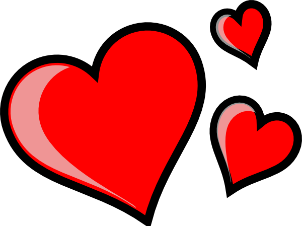 Three Hearts Clip Art ...