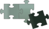 Green Puzzle Pieces Clip Art