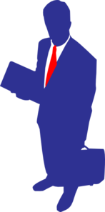 Blue Red Tie Clip Art