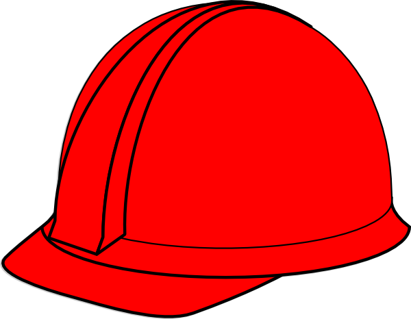 red hard hat clip art at clker com vector clip art online royalty rh clker com free clipart hard hat hard hat clip art black and white