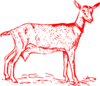 Red Goat Outline Clip Art