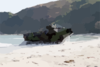 Amphibious Assault Vehicles (aav) Arrive On The Philippine Shore From The Amphibious Transport Dock Ship Uss Fort Mchenry (lsd 43). Clip Art