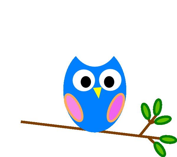 blue owl clip art at clker com vector clip art online royalty rh clker com  free clipart cute owls