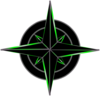 Navigation Symbol Black And Green Clip Art