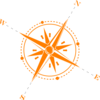 Orange Compass Clip Art