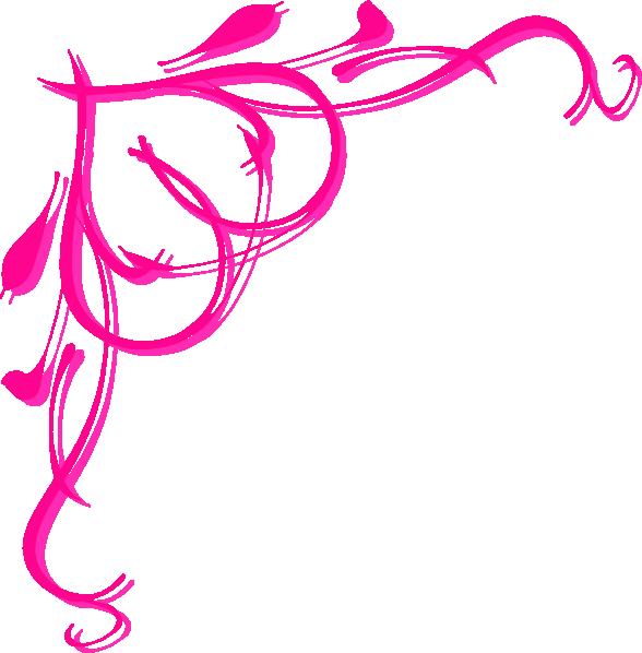 pink heart border clip art at clkercom vector clip art