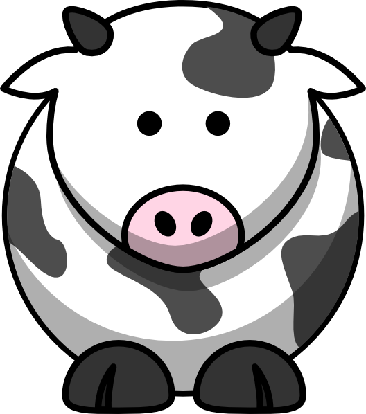 Cow Icon Clip Art at Clker.com - vector clip art online, royalty free ...